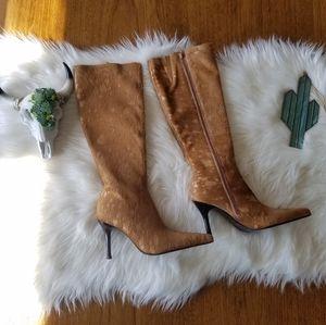Tall calf hair boots